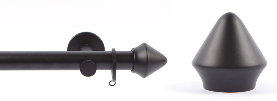 Product Shot - Apollo 291521 Plato Round Finial Black 1