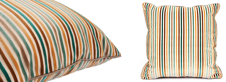 Dashing Pinstripes Throw Pillow